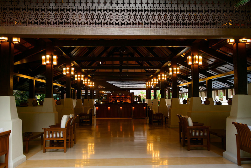 Main reception area at the resort.