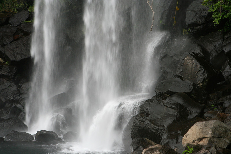 ...but now that the area is very popular with tourists, they have moved on to more secluded falls on other parts of the island.