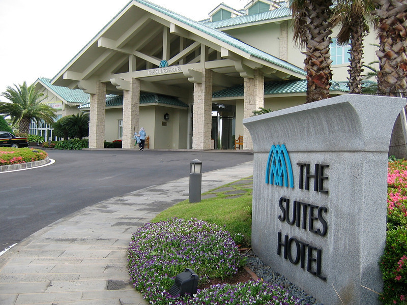 The Suites Hotel is located across the street...we stayed here our last night on the island.