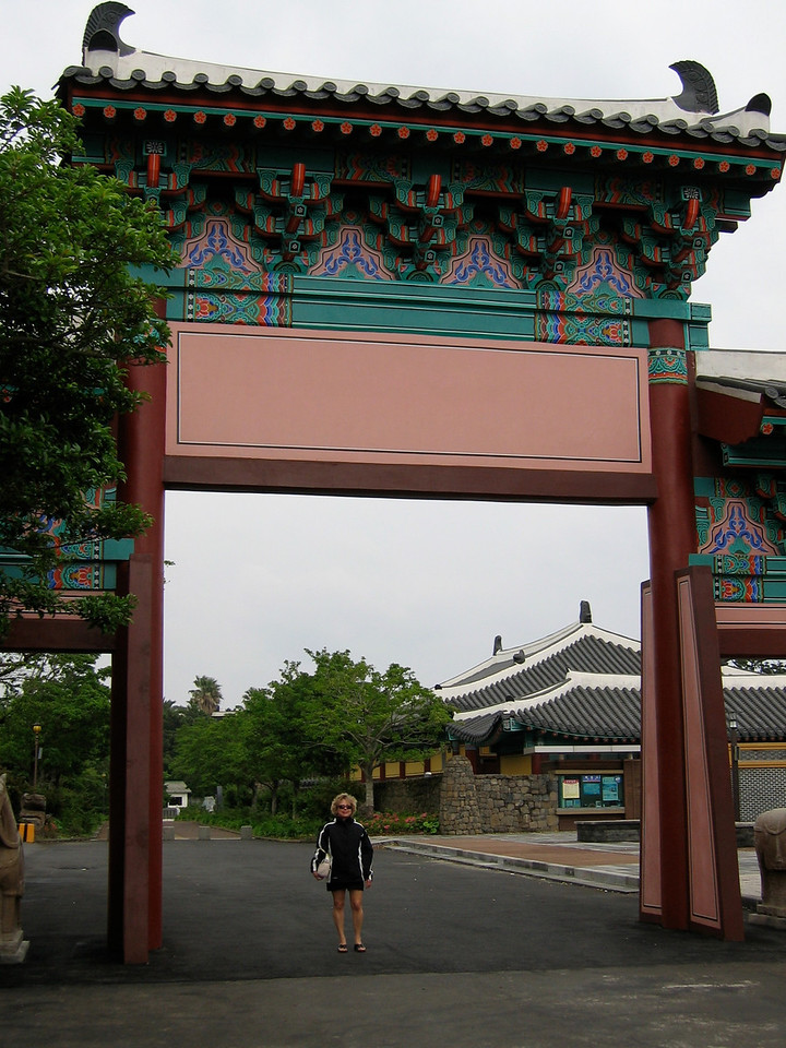 This is the entrance to Jeongbang Falls, on the other side of Seogwipo.