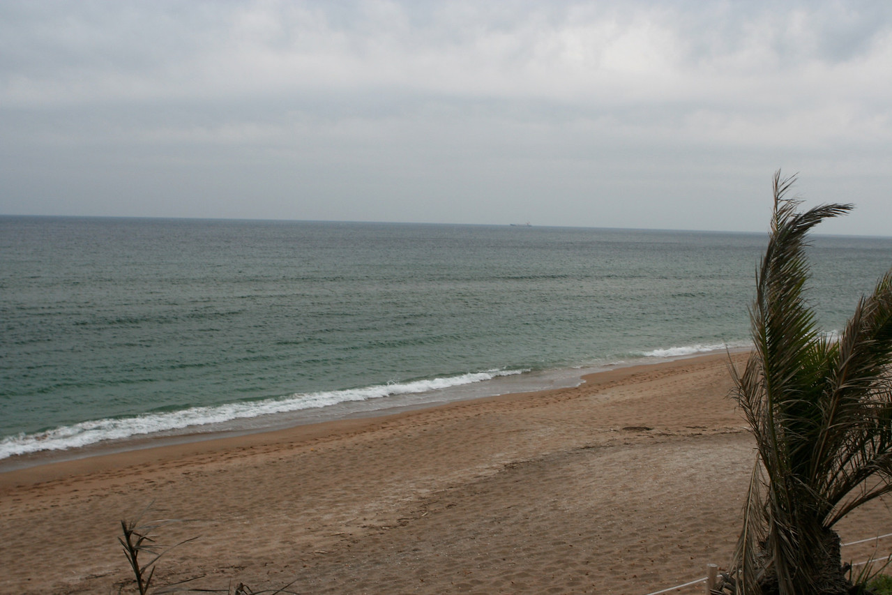 This is Jungmun Beach, directly behind the hotel.
