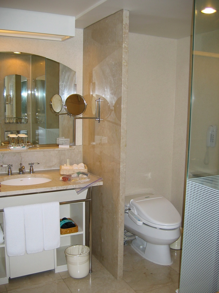 Bathrooms were marble and include a large soaker tub.