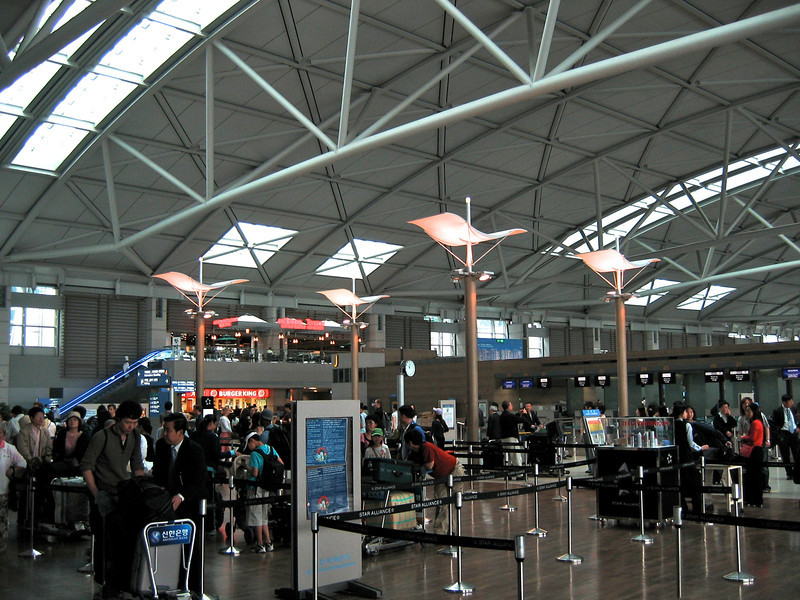 First stop is the arrivals area an Incheon Airport, about an hour or so outside of Seoul.  Incheon was recently rated the best airport in the world.  airport