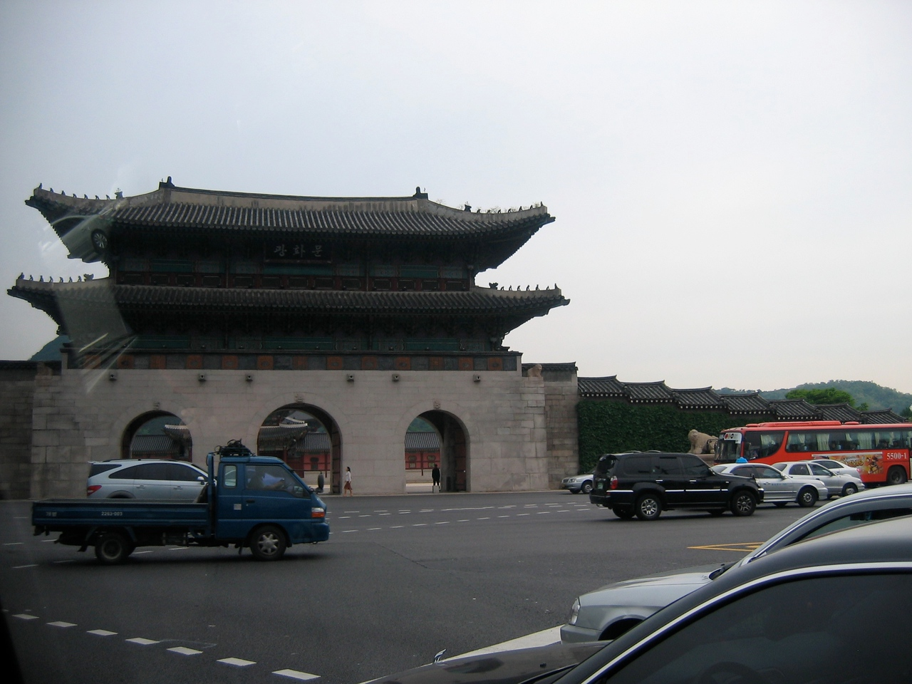 On our way to the DMZ, we pass the Gyeonbok-gong palace in Seoul.  It was constructed in 1395.