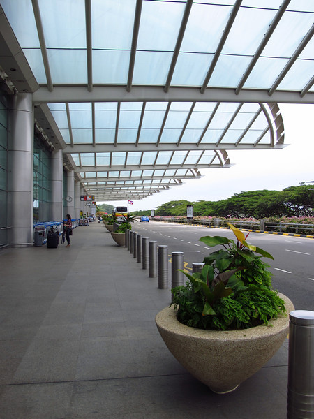 Outside Singapore Airport Terminal 2.