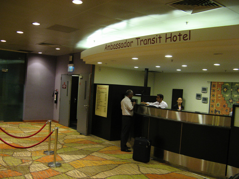 Transit hotel inside Singapore Changi Airport Terminal 1.  The airport also has hotels in it's other two terminals as well.
