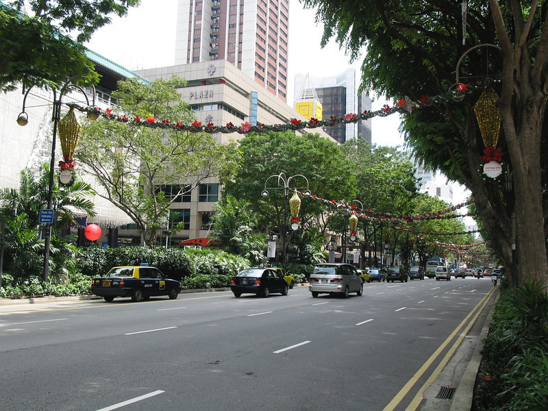 The area is a shopping mecca, as is all of Singapore.  Orchard Road got its name from the nutmeg, pepper and fruit orchards that used to lie on either side of the street in the 1840s. Commercial development only began in the twentieth century, and took off in the 1970s
