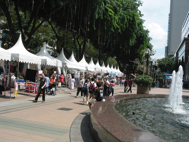 In addition to outdoor markets, Orchard Road is home to over 20 different shopping malls with stores for all budgets.