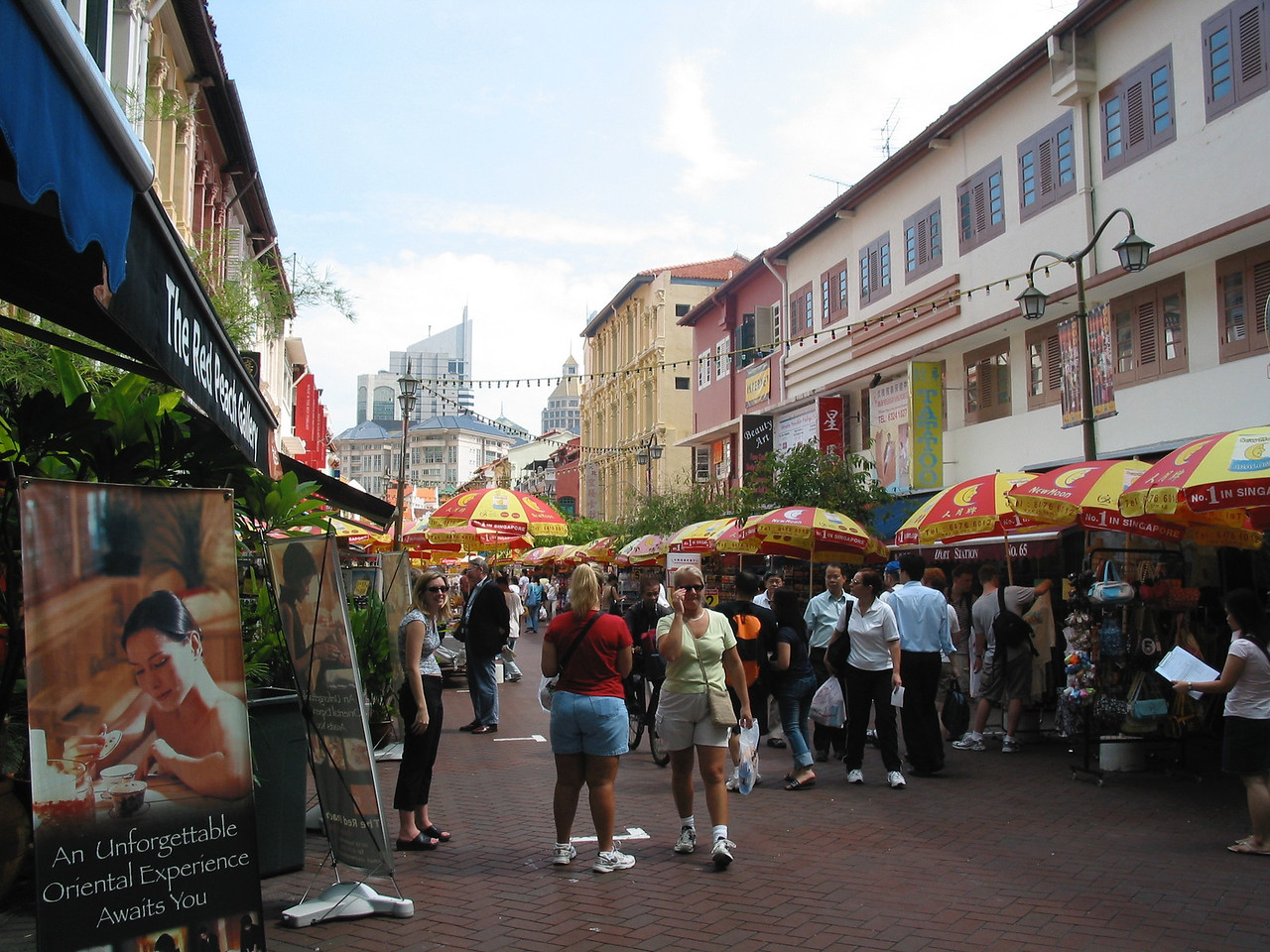 In Chinatown, you can find a great place to have lunch as well as great bargains.