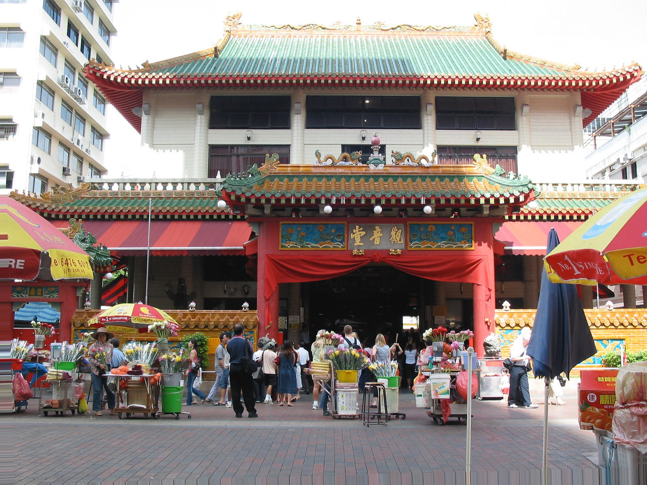 Kwan Im Thong Hood Cho Temple is a traditional Chinese temple situated at Waterloo Street. The temple has existed since 1884 at its present location with a reconstruction in 1895 and 1982.