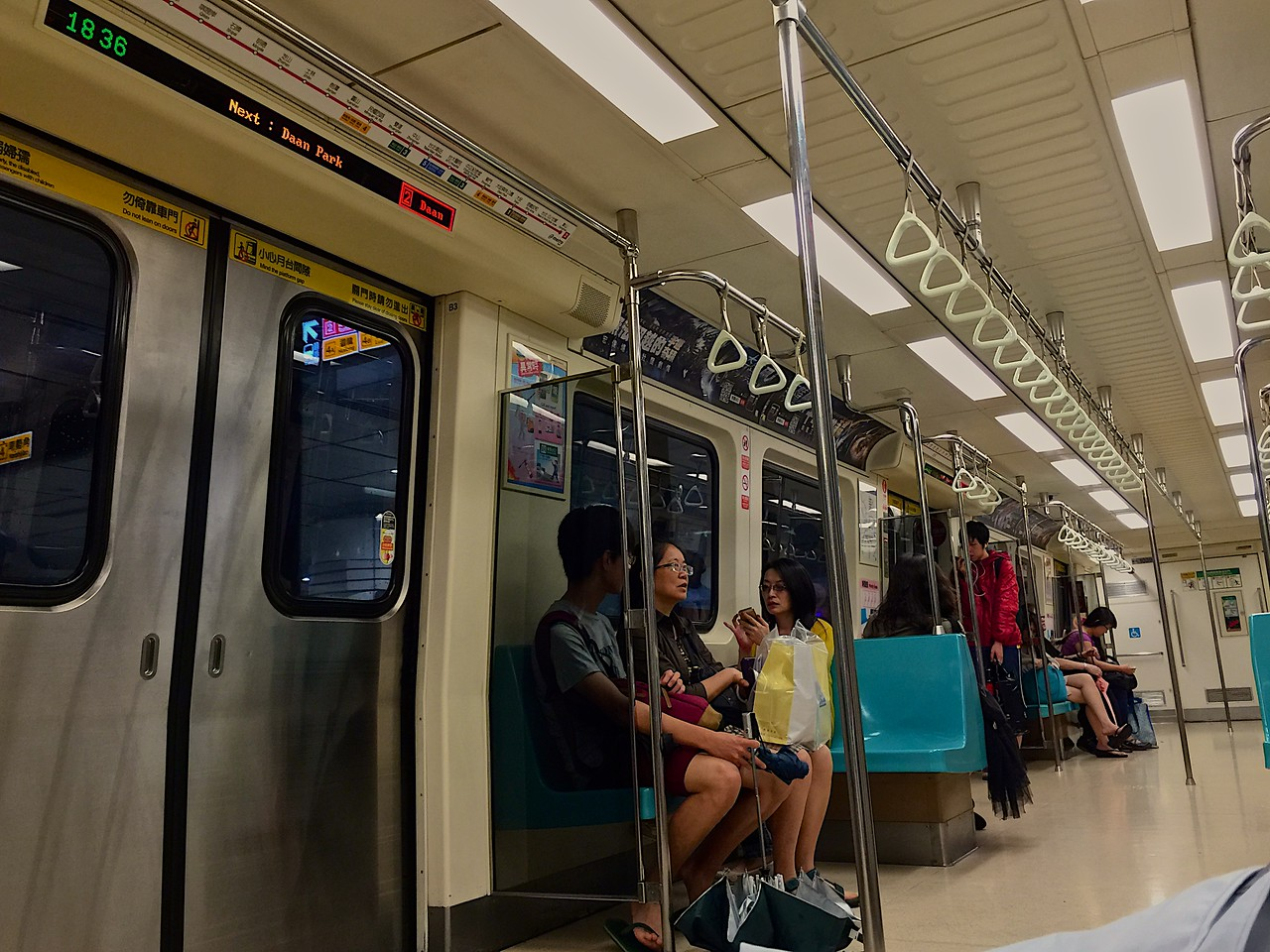 MRT trains are spotlessly clean and on-time.