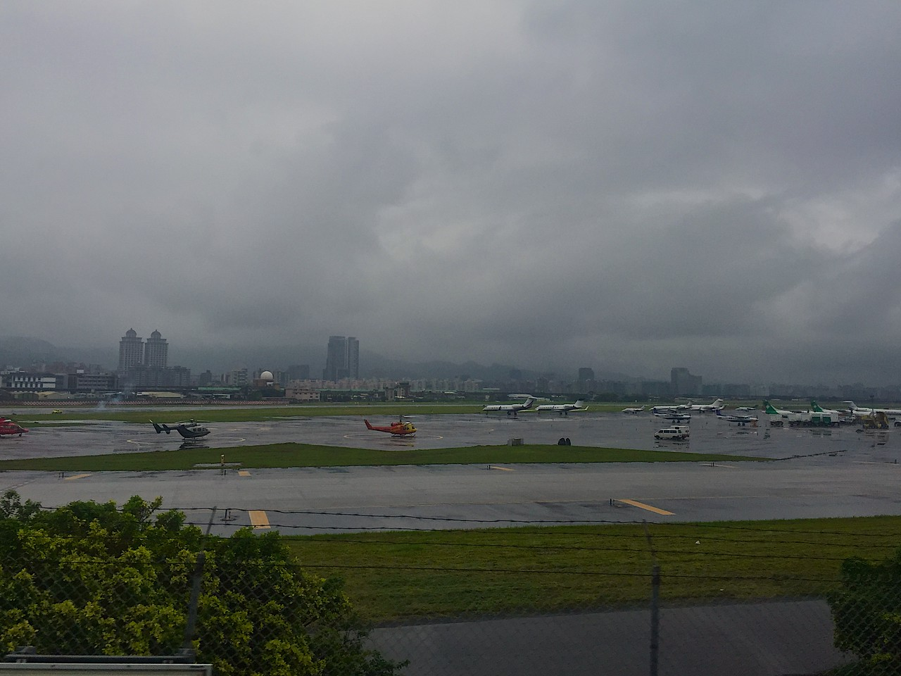 Songshan Airport in the city of Taipei has scheduled flights serving domestically in Taiwan, and also to China, South Korea and Japan<br /> <br /> Songshan Airport is also the base of certain Taiwan Air Force units.