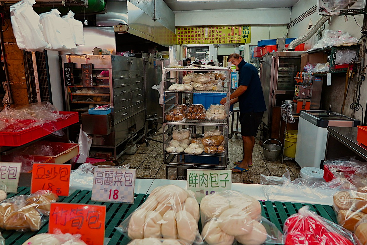 In the heart of the market is a great little bread bakery making all kinds of buns and breads.