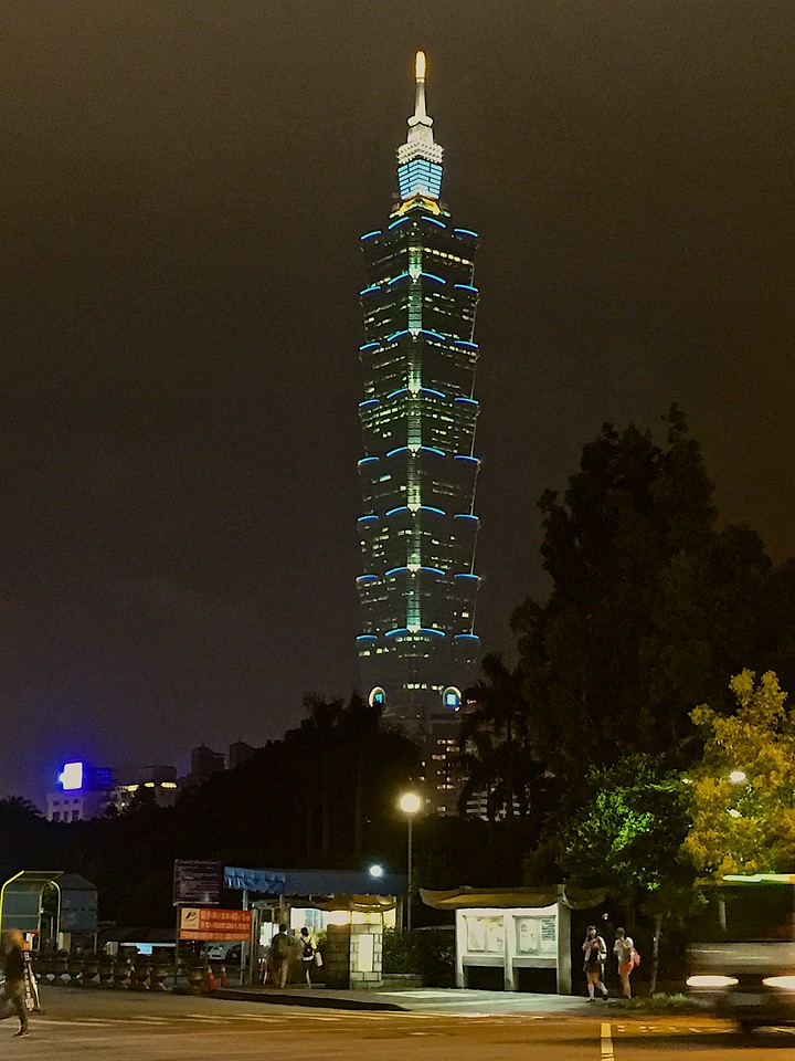 Taipei 101 construction started in 1999 and finished in 2004. The tower is designed to withstand typhoons and earthquakes.<br /> <br /> A multi-level shopping mall adjoining the tower houses hundreds of stores, restaurants and clubs.