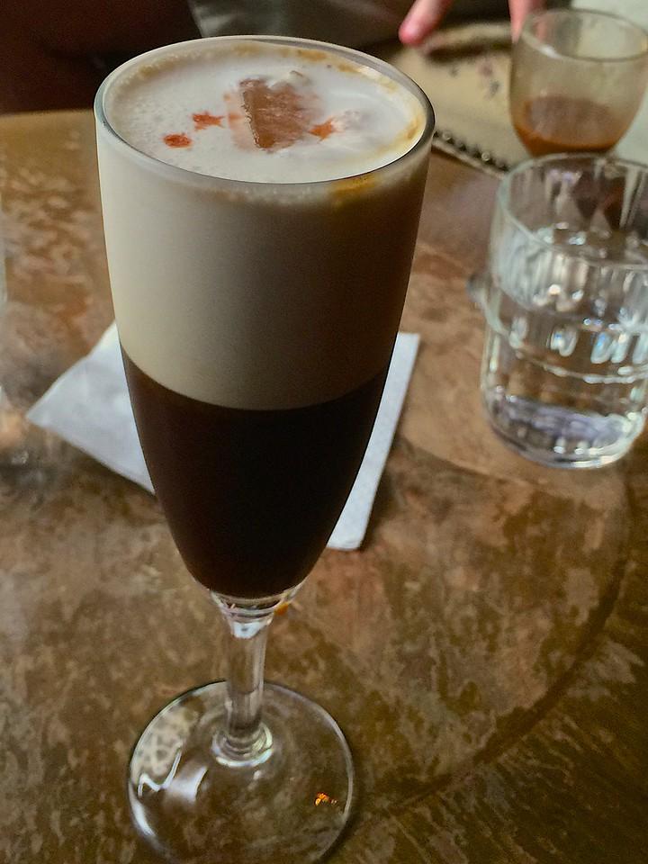 A shakerato.  Espresso with aperol.