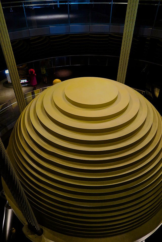 A 660-tonne (728-short-ton) tuned mass damper on the 91st floor stabilizes the tower against movements caused by high winds. The damper can reduce up to 40 percent of the tower's movements.