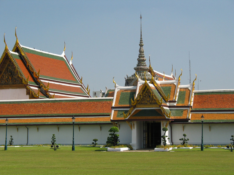 The Grand Palace is a complex of buildings at the heart of Bangkok, Thailand. The palace has been the official residence of the Kings of Siam (and later Thailand) since 1782. The king, his court and his royal government were based on the grounds of the palace until 1925.