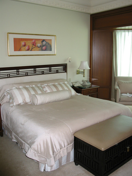 Even regular Deluxe Rooms are well appointed and have a large sitting area in front of the windows.