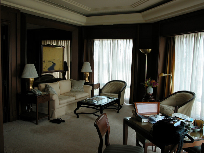Suites here are well appointed with a separate living room and separate office from the bedroom.