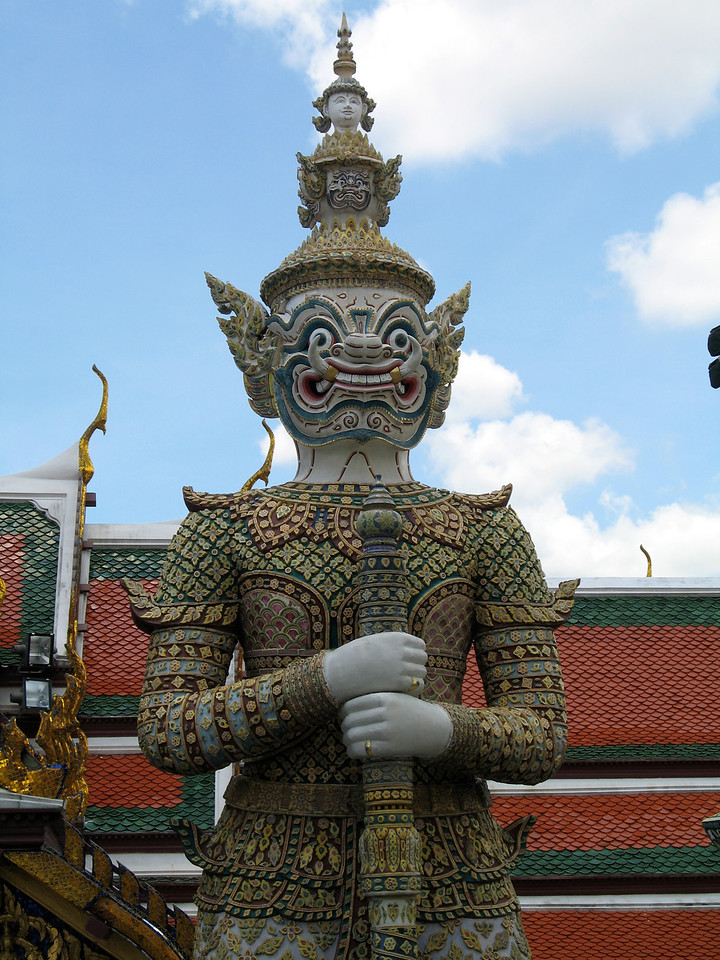 These demon guardians were built in the reign of King Rama III (1787-1851), each one describing an important character in the Ramakian story.