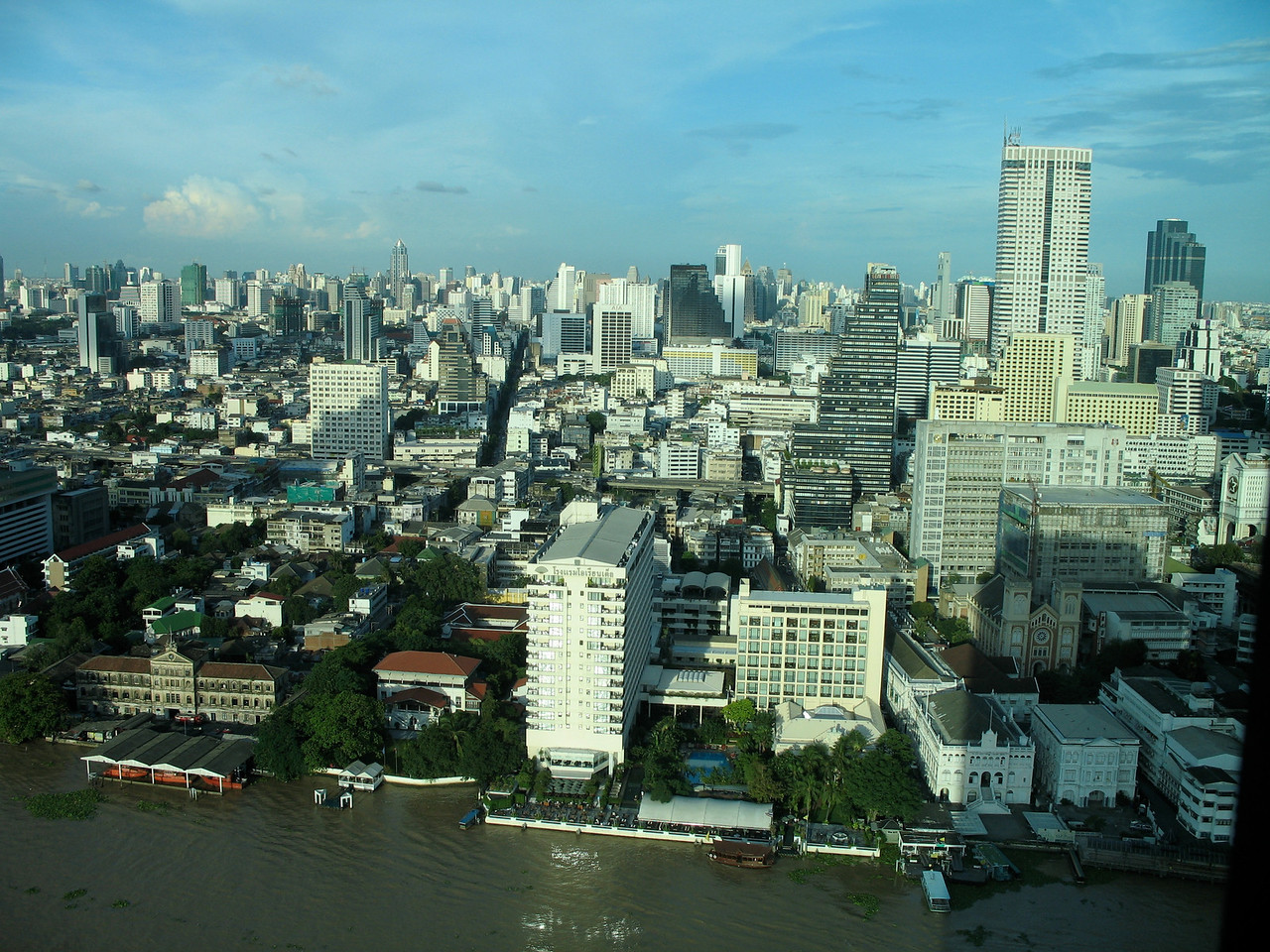 Here's a view of the City of Bangkok from the 35th floor.