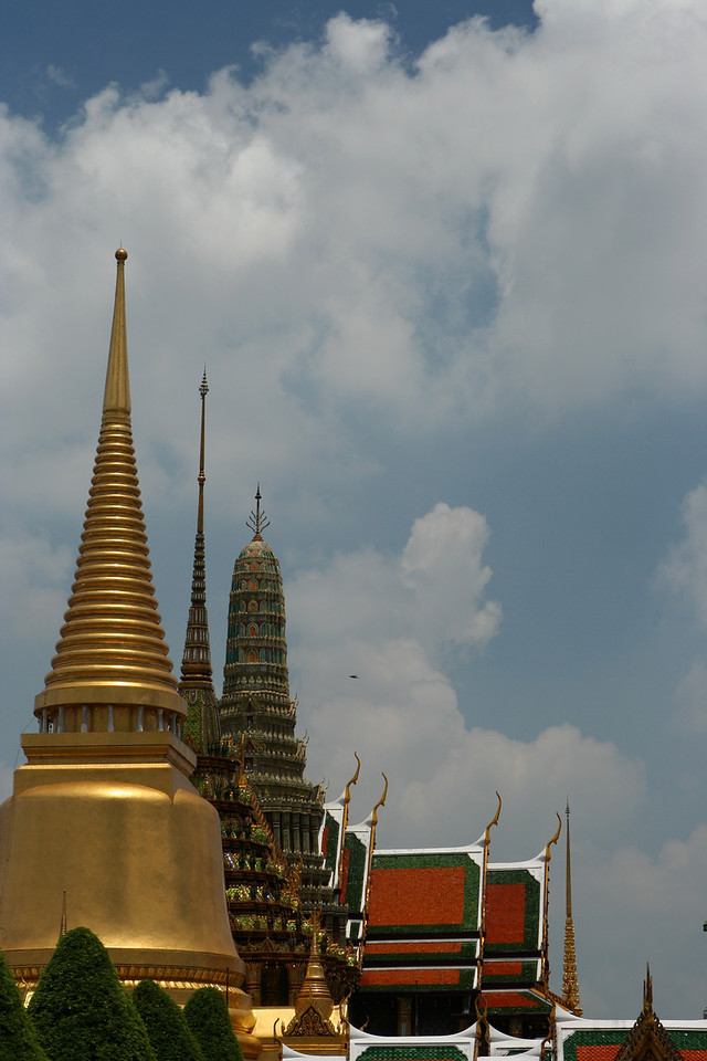 Here are a couple of photos taken outside of the Grand Palace complex.