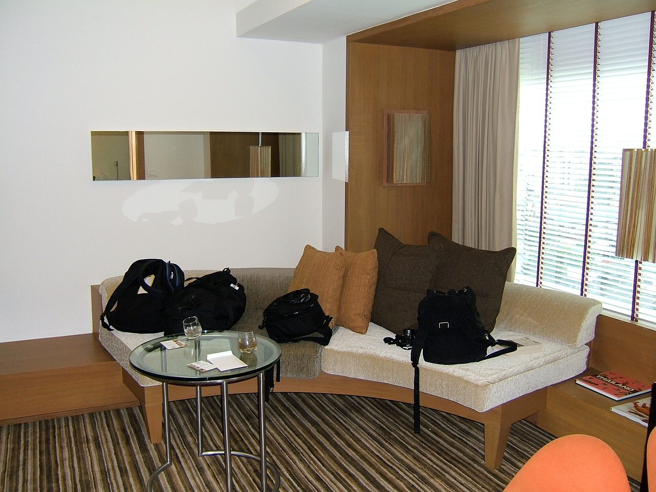 Each room also had a separate living area.