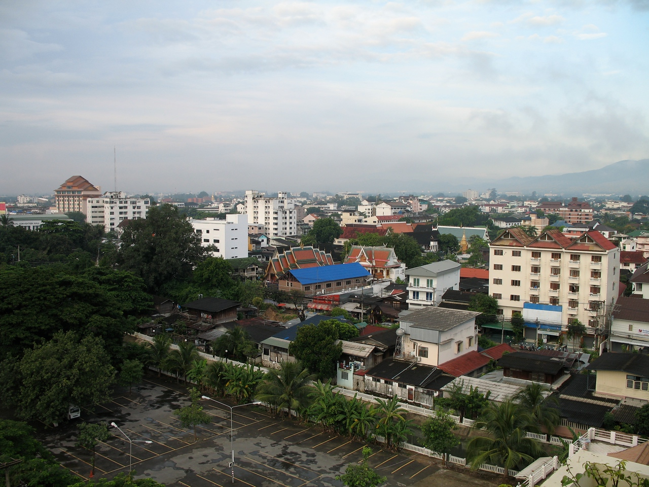 Views of Chiang Mai from the room.