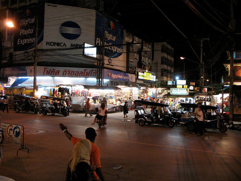 The Chiang Mai night market is right next to the hotel.