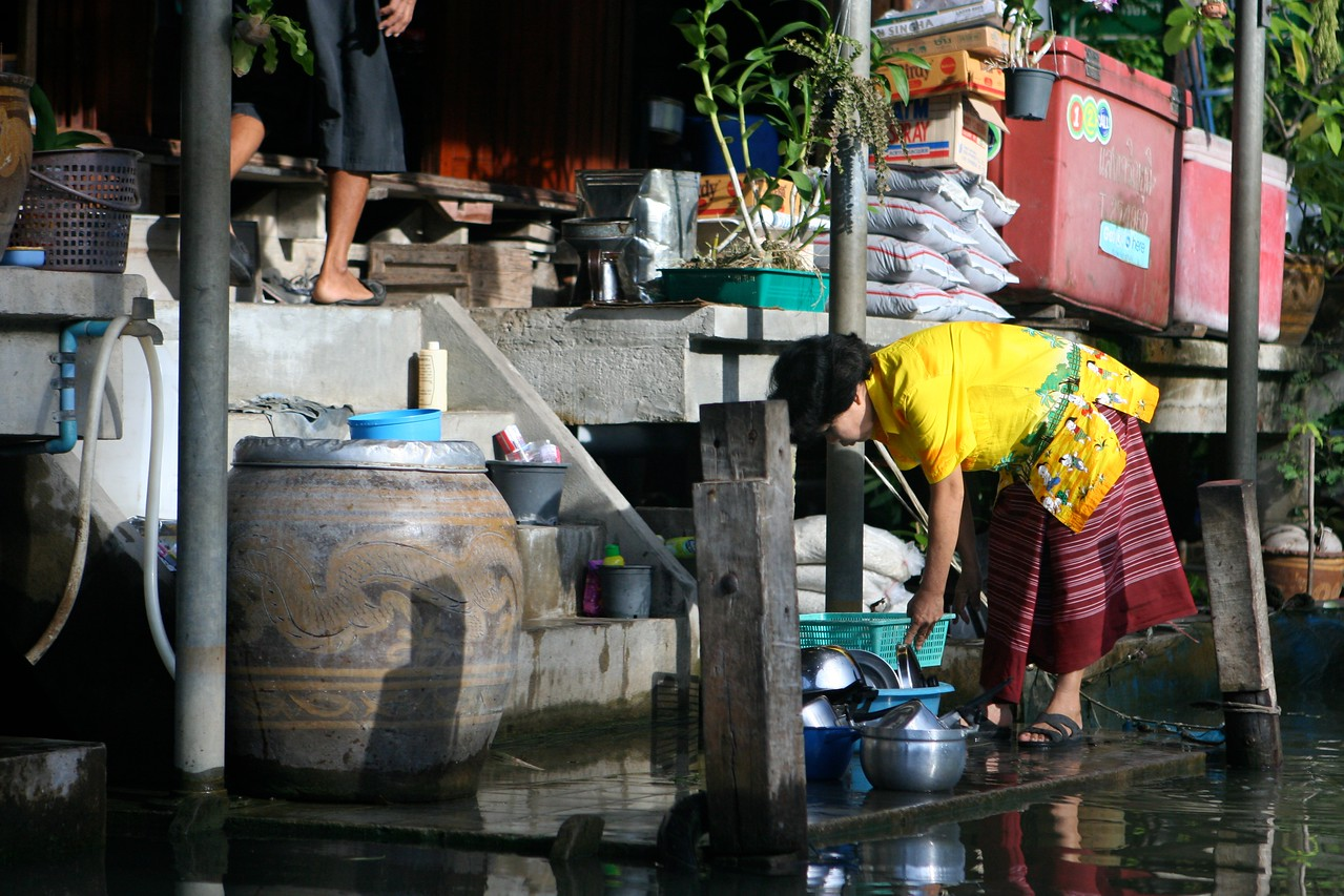 ..and did we mention that waste water from these houses also drain into the canal?