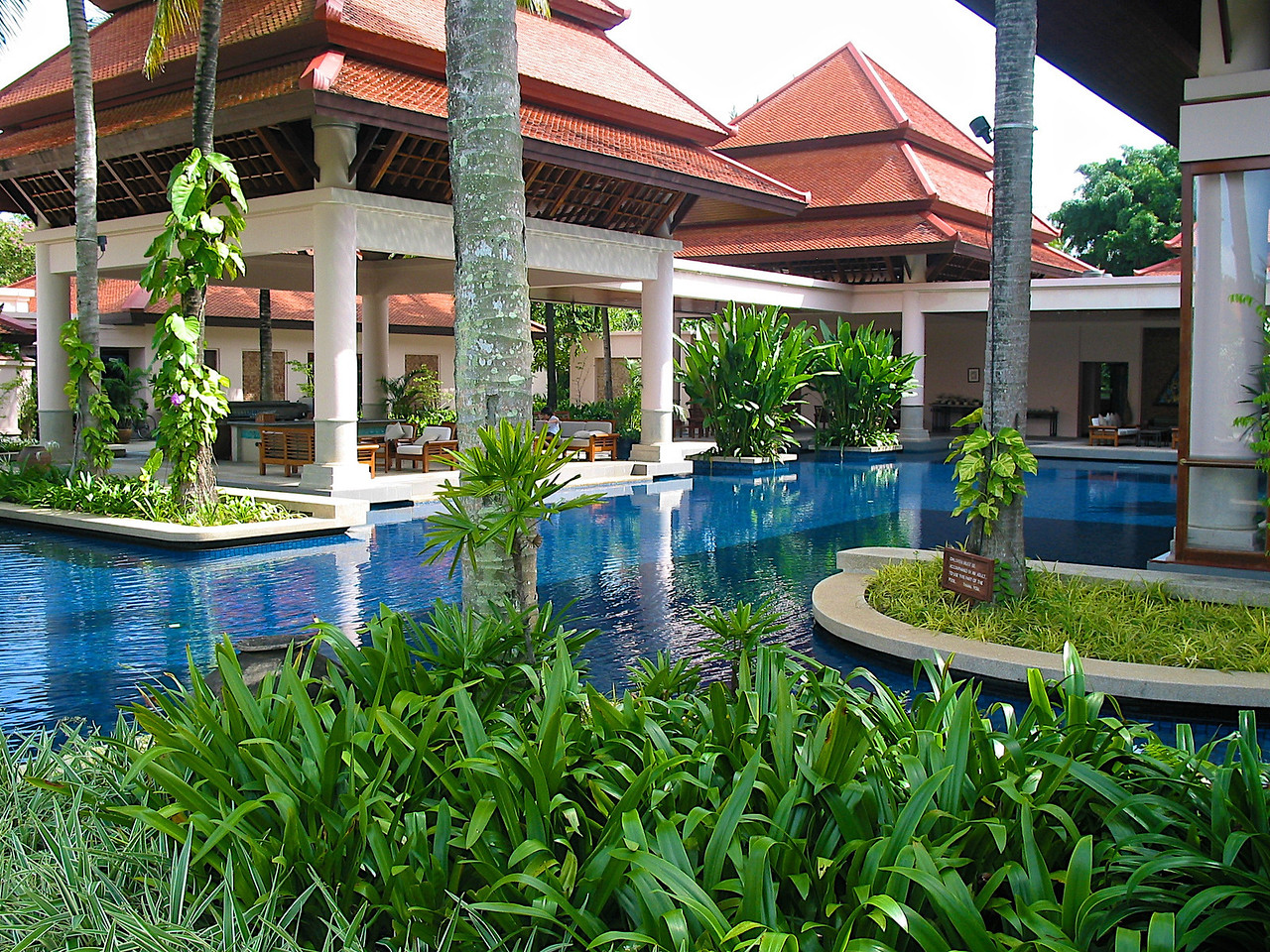 …another pool meanders throughout the front of the property..