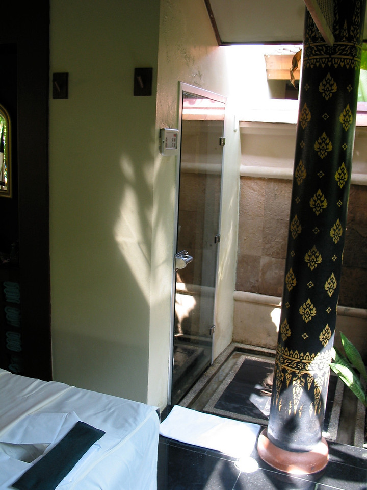 The pavilion also includes your own private shower and steam area.