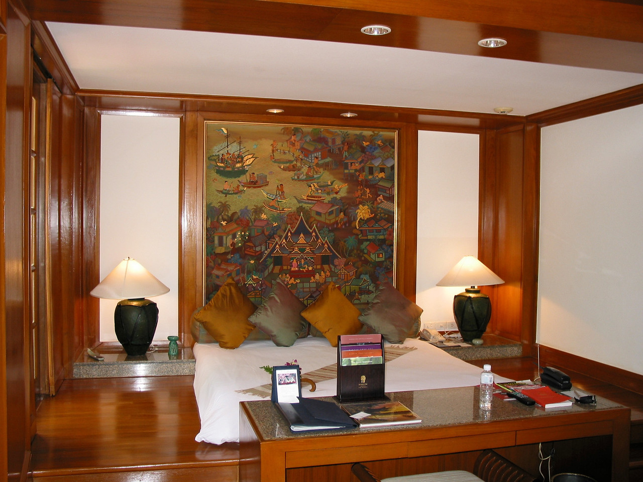 Villas are large and spacious decorated in traditional Thai style.