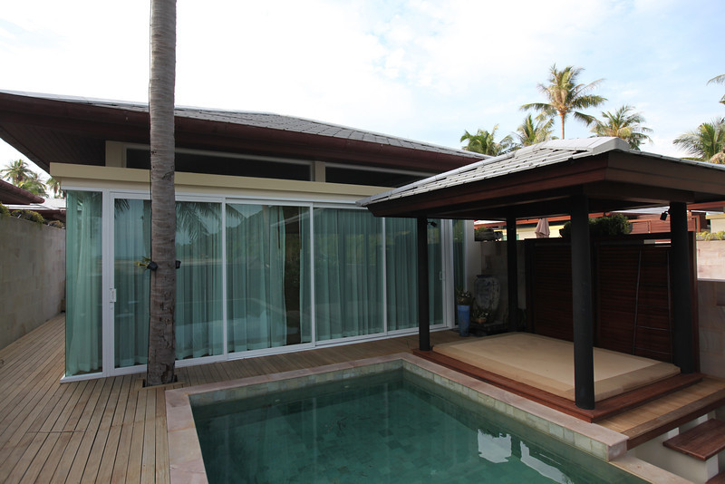 Just outside the building with the living room, is your own private infinity edge pool...