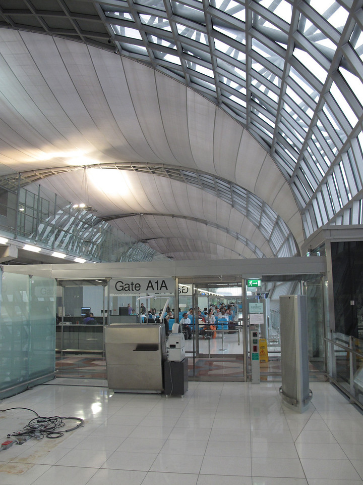 This is the first time we've been to the new Bangkok Airport.