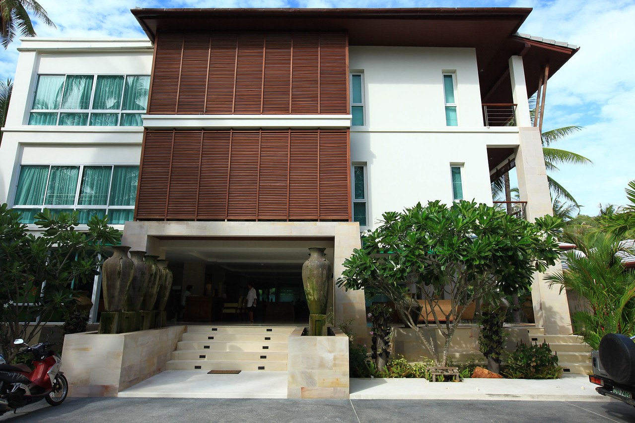 The hotel has 33 rooms, some which are located here in the main building and others which are separate villas on the property.