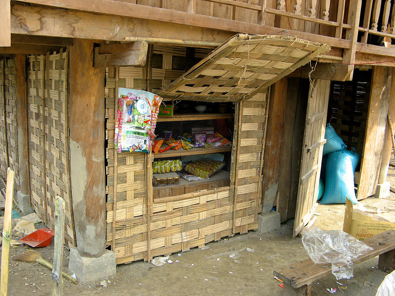 """Along the roads, you can find small villages that sell """"snacks""""."""