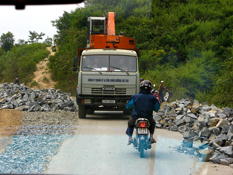 WIth the roads being very narrow and not in the best of conditions, traffic and just getting by can be a challenge.