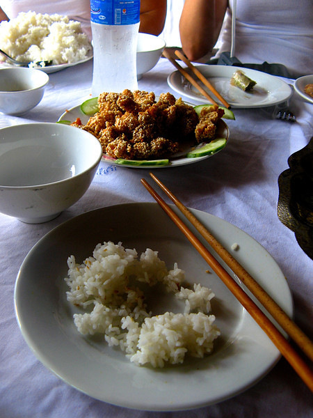 ..then it's on to some sesame chicken..