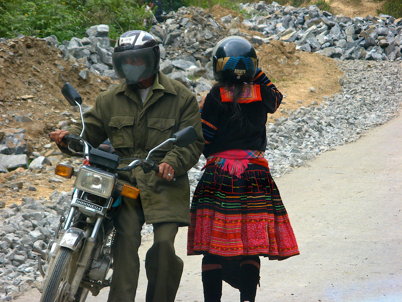 The main mode of transportation here is motorbike.