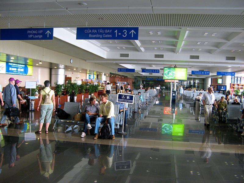 The domestic terminal at Ho Chi Minh.