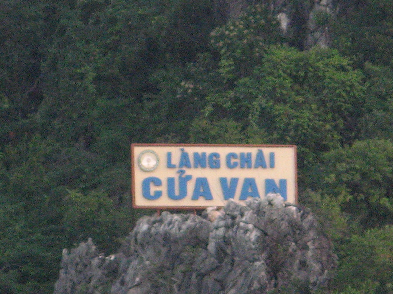 One of the places you can kayak to is Cua Van, a floating village.