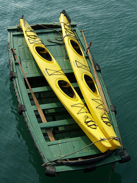 One of the other activities you can do from the boats are kayaking in Ha Long Bay.