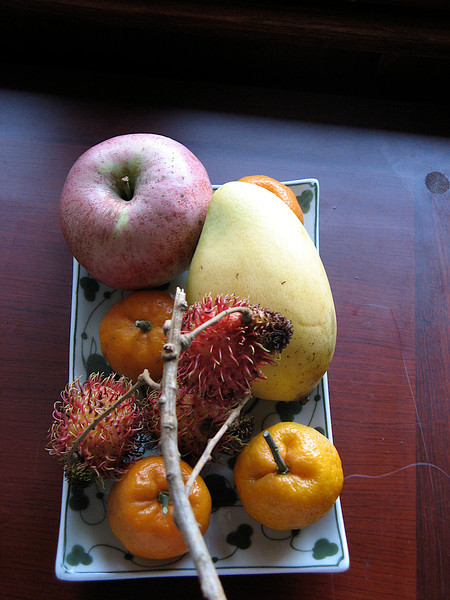 There's a complimentary fruit plate in your room upon arrival.