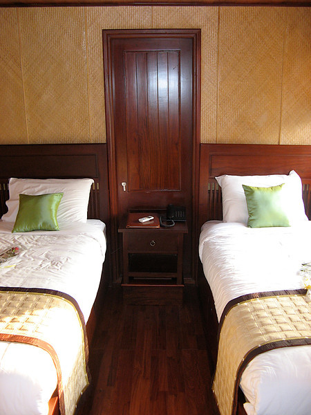 Cabins on the boat are very nice.