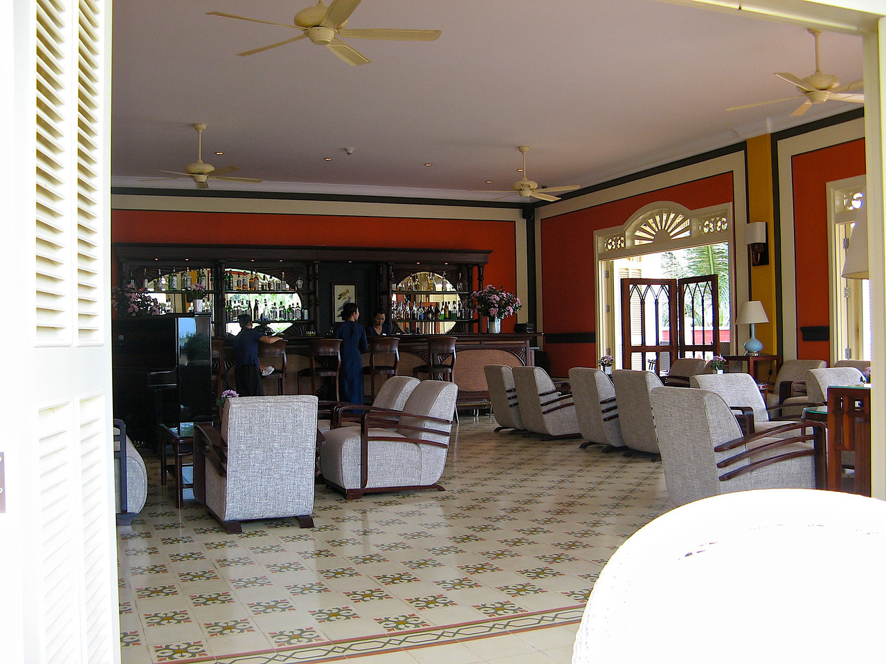 There's a large bar and lounge area where you can relax..
