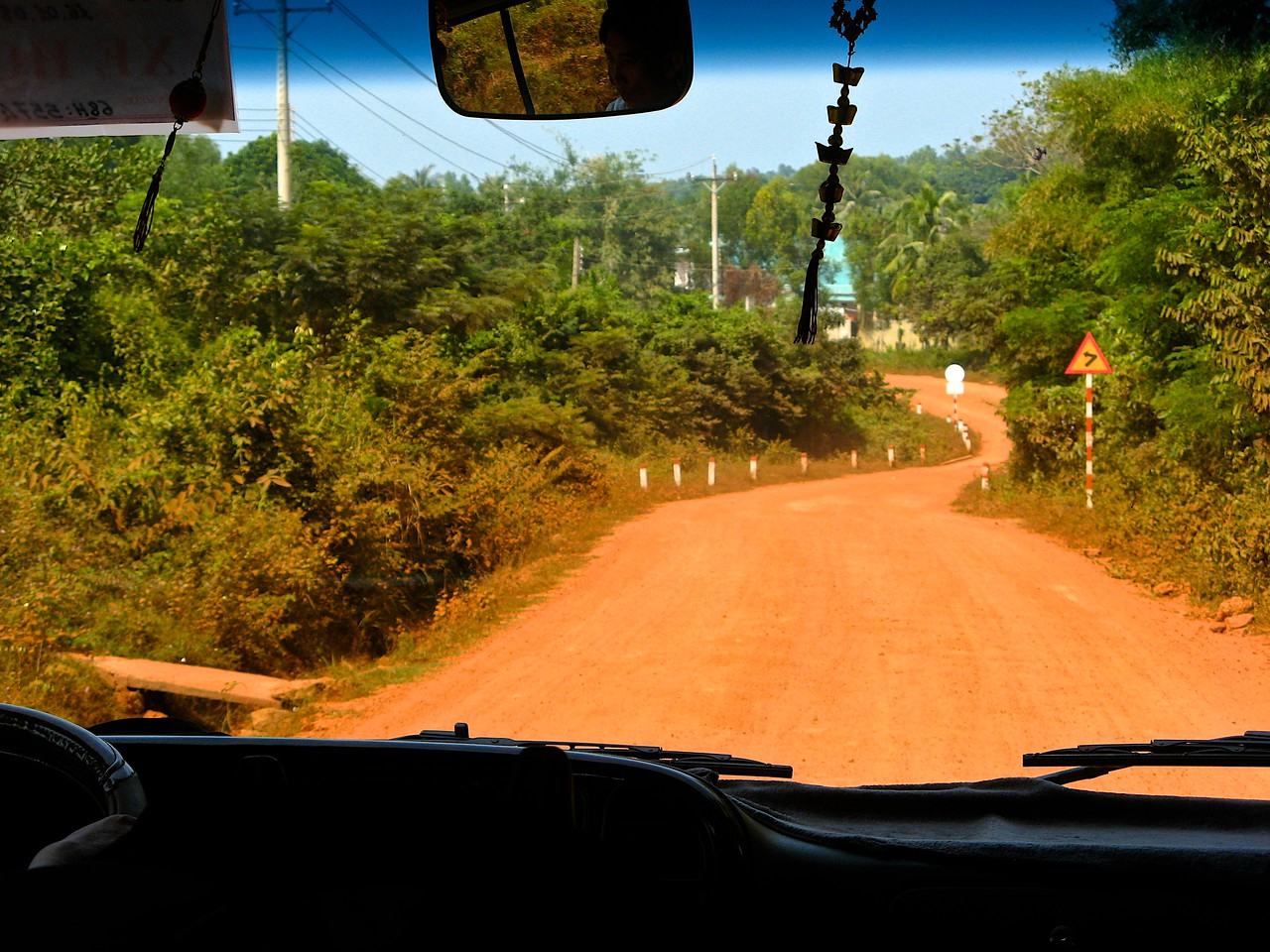 Phu Quoc isn't real big on infrastructure, so many roads are dirt roads leading to resorts on the island.