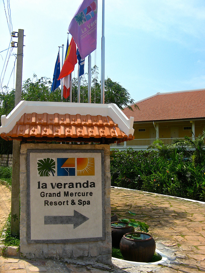 We'll spend a few days on the beach at the La Veranda Resort.