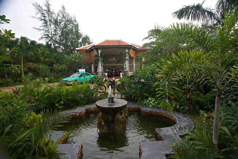 Main reception at the resort.