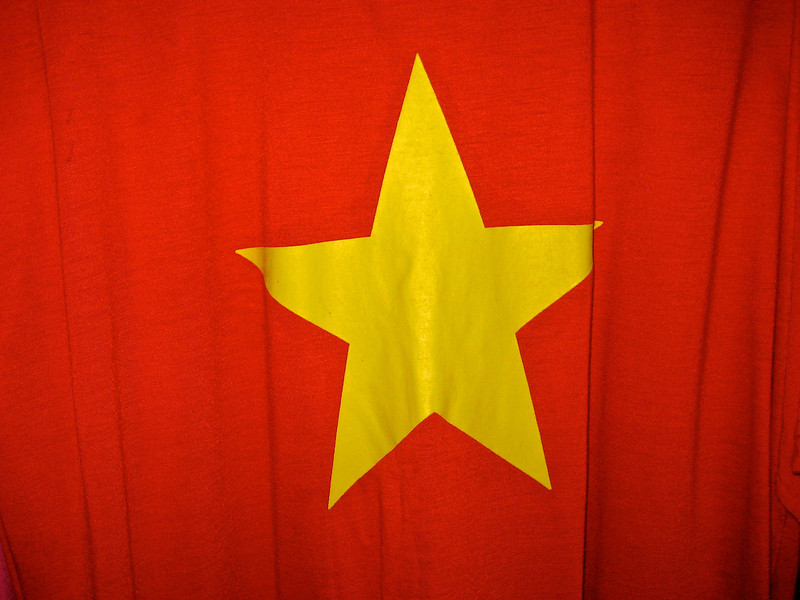 The Vietnamese flag.